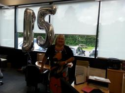 Karen celebrating 15 years at CTS