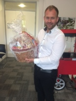 Stuart from Total Projects won a sweet hamper